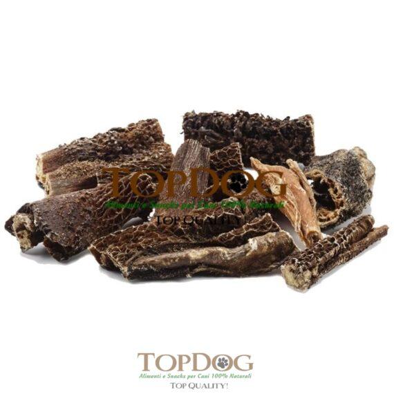 Trippa verde essiccata di manzo per cani
