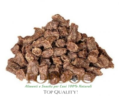 Premietti per cani con bufalo, carote e semi di lino