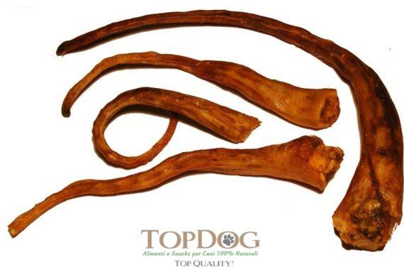 Code di maiale essiccate per cani