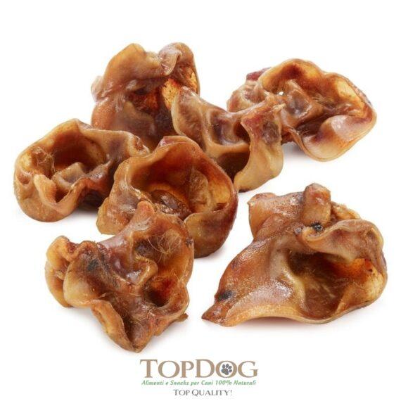 Cartilagini delle orecchie di suino per cani