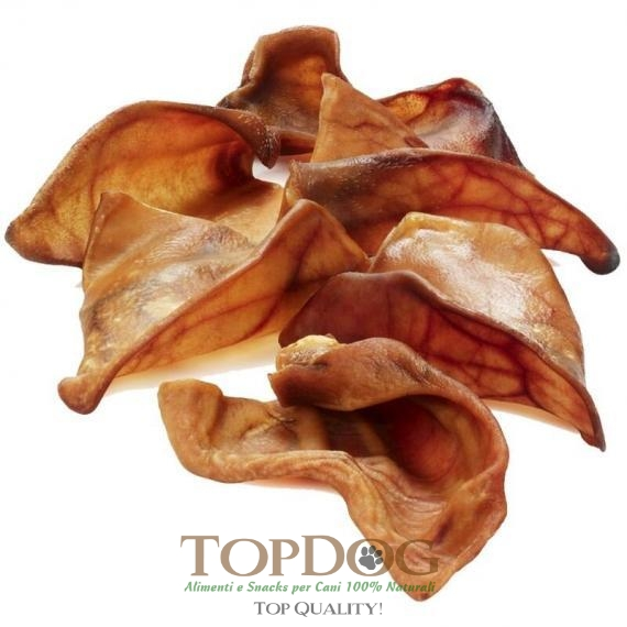 Orecchie di maiale essiccate per cani