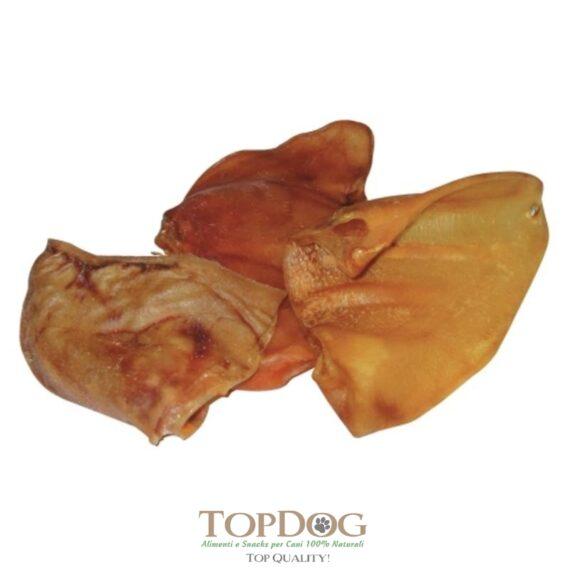 Orecchie di maiale essiccate per cani 3 pezzi