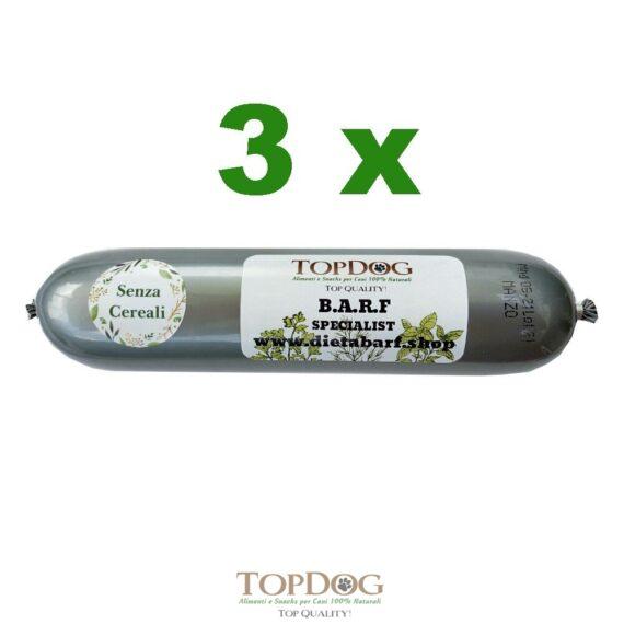 Salamotto di carne per cani al Pollo Grain Free 3pz 500gr