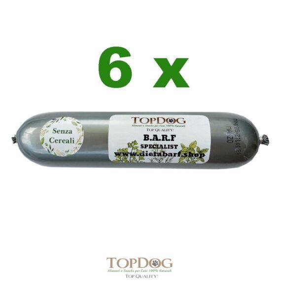 Salamotto di carne per cani al Pollo Grain Free 6pz 500gr