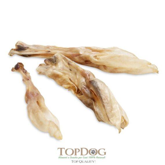 orecchie di coniglio per cani