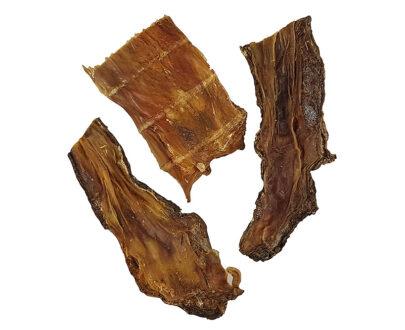 Ideale come snack tra un pasto e l'altro o come gustosa ricompensa naturale da masticare costituito al 100% da carne disidratata di manzo.